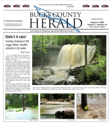 Bucks County Herald Front Page August 6, 2009