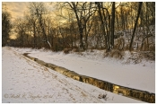 Winter Sunset Reflections Along Delaware Canal - Tinicum