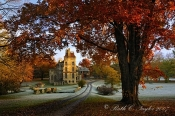 Frosty Autumn Morning at Fonthill - Doylestown, PA
