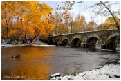 Autumn Snow at Eight-arch Bridge, Neshaminy Creek - Warwick, PA