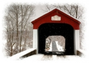 Van Sant Covered Bridge - Holiday Card