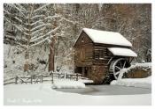 Winter's Day at Cuttalossa Mill - Holiday Card