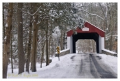 Winter Along Cabin Run Covered Bridge - Plumstead, PA