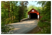 Summer Morning Along Frankenfield Covered Bridge - Tinicum, PA