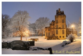 Snowy Evening at Fonthilll - Note Card