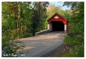 Summer at Frankenfield Covered Bridge - Note Card